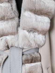 Guy Laroche Vintage chinchilla fur lapel cape
