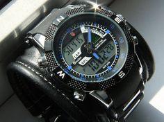 Men's Wrist watch Leather bracelet Tour-2 - SALE-Worldwide Shipping-Sport watches - Leather cuff watch.