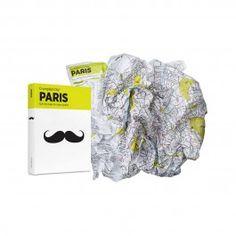 Crumpled City map of Paris. Mama Shelter Paris Only See Concept reading glasses Paris Map, Paris City, Plan Paris, Paris Home, Maputo, City Maps, Vintage Maps, Waterproof Fabric, Plans