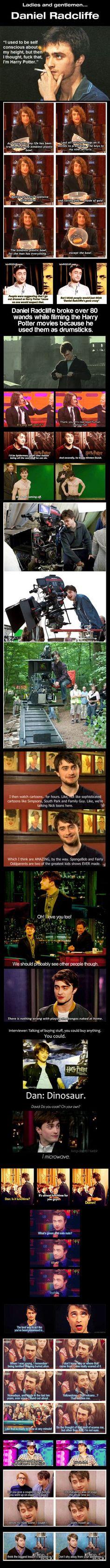 Gotta love him...Daniel Radcliffe on *many* things...⚡️