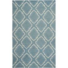 Safavieh Dhurries Pavel Wool Area Rug or Runner, Blue/Ivory, Beige