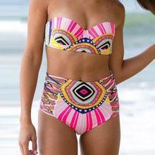 XWAN-Bikini Bikini-new personnalité Bleu Lattice Style de bikini Maillot de bain Vente Dernière C64mJEci
