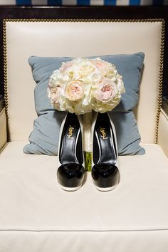 If you get designer shoes for your wedding, make sure that your photographer gets a shot featuring the label. Brittany and Jamahl's Wedding at the Liberty Hotel in Boston » Fuccis Photos of Boston–Something Blue Blog | Boston Wedding Photographer Image by Vail Fucci