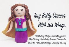 Tiny Belly Dancer With Isis Wings Keepsake by ParadiseVintageJewel