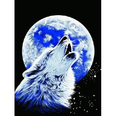 """By Northwest Co. Howling Wolf Print Blanket Throw 95""""x79"""""""