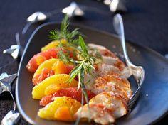 Découvrez la recette Langoustes tièdes sur panaché de fruits sur cuisineactuelle.fr.