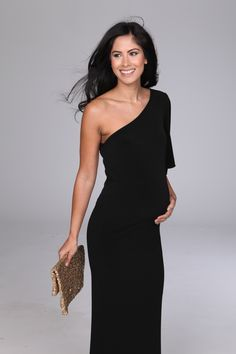 Black formal maternity dress