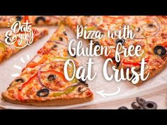 Our Pizza with Gluten-Free Oat Crust has a hearty, authentic pizzeria taste. This pizza is very filling so you might find yourself getting full on a piece or. Oat Flour Recipes, Oats Recipes, Sourdough Recipes, Recipies, Oatmeal Flour, Dairy Free Pizza, Wheat Free Recipes, Gluten Free Oats, Healthy Cooking