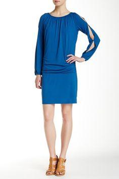 Tambour Cold Shoulder Dress