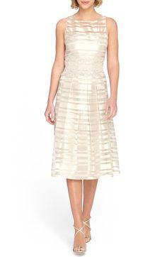 Tahari Shadow Stripe Midi Dress available at #Nordstrom