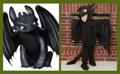 How to make a Toothless costume - How to Train Your Dragon