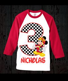 Mickey Roadster Racers Birthday Shirt by FashionistaStylez on Etsy https://www.etsy.com/listing/511183109/mickey-roadster-racers-birthday-shirt