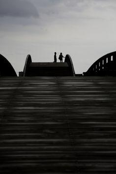 Kintai Bridge - a historical wooden arch bridge, in the city of Iwakuni, built in 1673, Japan. 錦帯橋
