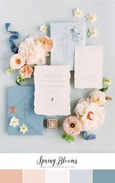 Wedding Design blue wedding stationary with hand made paper and different shades of blue for the envelopes, rose gold wax seal and romantic calligraphy and prints Wedding Invitation Paper, Wedding Invitation Inspiration, Wedding Stationary, Wedding Paper, Wedding Inspiration, Invites, Invitation Cards, Blue Wedding Stationery, Spring Wedding Invitations