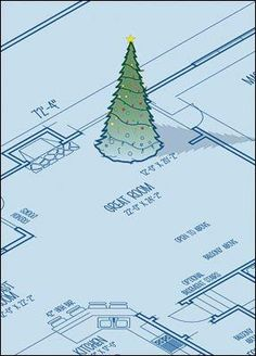 The Christmas Card w  The Christmas Card with a Blueprint will draw attention this season with its roomy design and standing holiday tree topped with a yellow star.  https://www.pinterest.com/pin/55591376631216621/