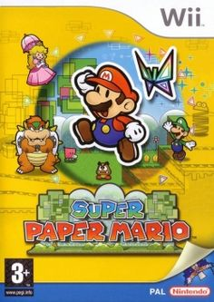Super Paper Mario for Nintendo Wii 2007 for sale online Mario Wii Games, Mario Party Games, Cry Anime, Anime Art, Nintendo 64, Nintendo Switch, Paper Mario Wii, Mario Und Luigi, Dvd Box