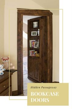 Hidden Passageway Bookcase Doors - Most secret rooms need to be designed into your house way before it's built, but these Woodfold Bookcase Doors change all that. If you are bugging in, this may be a great option to seal off a room or closet for all your preps.