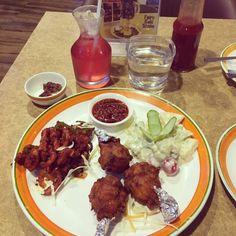 #Iftaar at #OliveAndHoney #Fast #Food & #Dine #In #Restaurant #KoheFiza #Bhopal #awesome #amazing #chicken #crispy #chicken #lollipop #salad #dates #sharbat #delicious #instapost #sfmworldpost #photooftheday #food