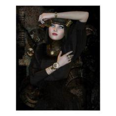 Keeper of Time With dress and corset design - Marvelous Designer 2 Poser 3d, Poster Prints, Art Prints, Photoshop Cs5, Art Studios, Steampunk, Captain Hat, Goth, Female Girl