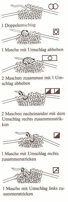 Stricken allgemein » Zeichenerklärung fürs Stricken                                                                                                                                                      Mehr                                                                                                                                                                                 Mehr