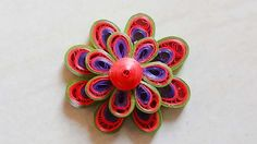 Paper Quilling :How to make Beautiful 3d Quilling leaf green/red/purple ...