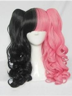 Lolita Black with Pink Cosplay Wig about 30 Inches Item # W2712  Original Price: $180.00 Latest Price: $65.29