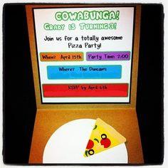 Inside Invitation - Grady's Ninja Turtle Birthday