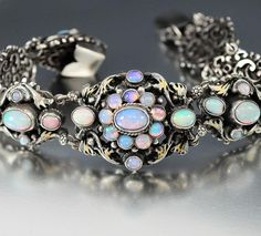 Antique Victorian Austro Hungarian Opal Bracelet #opalsaustralia