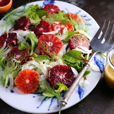 Blood orange salad is a colorful, tangy and healthy way to remind yourself that winter will not last forever. As a bonus, it also wards off scurvy!