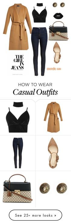 """""""Casual holiday """" by georgialeebeauty on Polyvore featuring Joseph, Nine West, Boohoo, Barbour and Gucci"""