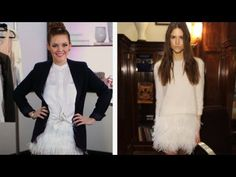 DIY Feathered skirt  also an amazing halloween costumer.  maybe in off white? cream?  or a blush pink or black?