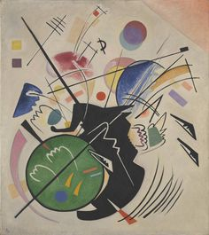 """""""Schwarze Form (Black Form)"""", by Wassily Kandinsky (1923)"""