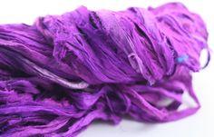 Purple Reign: Reclaimed Silk Yarn Ribbon from DGY