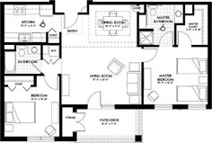 Image Result For Luxury 2 Bedroom Apartment Plans