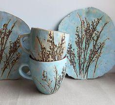 "Ceramics And Pottery Tea pair ""motley grass"".Ceramics And Pottery -Tea pair ""motley grass"".Ceramics And Pottery - Pottery Plates, Slab Pottery, Ceramic Pottery, Pottery Art, Thrown Pottery, Pottery Studio, Ceramics Pottery Mugs, Ceramics Ideas, Ceramic Plates"