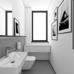 Chic black-and-white toilet | by CADFACE