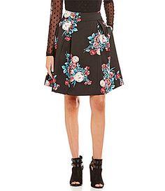 Soulmates FloralPrinted Party Skirt #Dillards