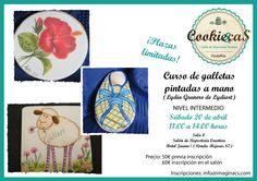 Curso de galletas pintadas a mano// Course handpainted cookies Hands, Cookies