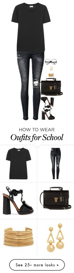"""""""Untitled #6762"""" by miki006 on Polyvore featuring Yves Saint Laurent, Dolce&Gabbana, Elizabeth Cole and ZeroUV"""