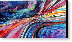 Seaside Canvas Print by Expressionistar Priscilla-Batzell.  All canvas prints are professionally printed, assembled, and shipped within 3 - 4 business days and delivered ready-to-hang on your wall. Choose from multiple print sizes, border colors, and canvas materials.