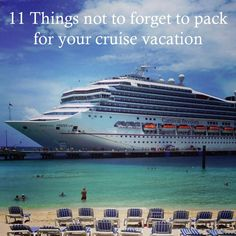 11 Things not to forget to pack for your cruise vacation! is part of Things To Consider Packing For Your Cruise Tammilee Tips - 11 Things not to forget to pack for your cruise vacation! Packing List For Cruise, Cruise Travel, Cruise Vacation, Vacation Trips, Vacation Spots, Packing Tips, Disney Cruise, Vacation Destinations, Vacation Ideas
