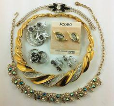 Gorgeous Vintage Coro Jewelry Lot Rhinestone by TheOldJunkTrunk, $30.00