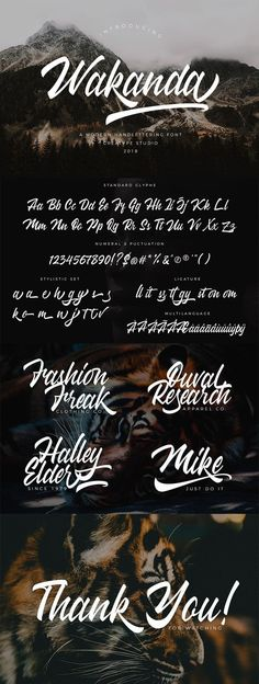Free Wakanda Script Font - Fonts - Ideas of Fonts - Free Wakanda is a stylish & hand-letter script typeface. This font will look awesome and amazing in many ways to your latest project. via Creativetacos Script Typeface, Hand Lettering Fonts, Handwriting Fonts, Typography Letters, Calligraphy Letters, Typography Poster, Hand Fonts, Lettering Tutorial, Brush Lettering