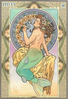 Image result for tarot cards the fool by Mucha