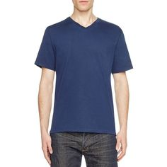 Threads For Thought Baseline V-Neck Tee - Compare at $24 ($13) ❤ liked on Polyvore featuring men's fashion, men's clothing, men's shirts, men's t-shirts, dark berry, mens vneck shirts, mens v neck t shirts and mens v neck shirts