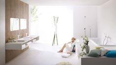 Phoenix Design modern white bathroom wood paneling