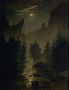 Giclee Print: Clearing in the Forest Art Print by Caspar David Friedrich by Caspar David Friedrich : Nocturne, Casper David, Forest Art, Art Japonais, Art Reproductions, Oeuvre D'art, Painting & Drawing, Art History, Landscape Paintings