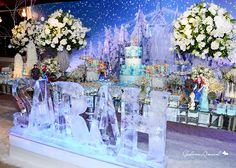 Linda festa Frozen, para inspirar e apaixonar...