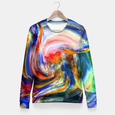 One of its kind, unique full print custom fitted waist sweater created by you. Stylish, warm and comfy - no matter how often you wash it, it won't fade away or loose it's shape. Create all over printed sweatshirt with galaxy, marijuana, emoji, nebula - choose your favourite!All items can be returned within 14 days unless used. No questions asked.Estimated shipping time - 14 working days.