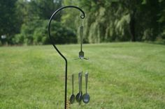 Recycled metal art wind chimes - pinned by pin4etsy.com